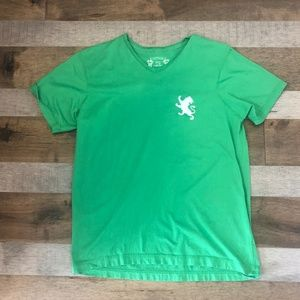 Green with white lion logo Express T-shirt